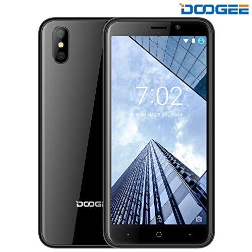 Smartphone ohne Vertrag, DOOGEE X50 Dual Sim Android 8.1 Handy, 3G Smartphones - 5.0 Zoll HD IPS - MT6580M Quad Core Prozesso - 1GB RAM + 8GB ROM - Dual 5.0MP Rückfahrkamera - 2000mAh - Dual SIM (Schwarz)