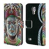 Head Case Designs Offizielle Chris Dyer Der Zuhörer In Rahmen Portraits Brieftasche Handyhülle aus Leder für Samsung Galaxy S4 Mini I9190