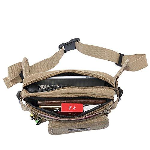 BUSL Wandern Hüfttaschen Männerleinentaschen Outdoor-Sportarten Arbeit Reiten A