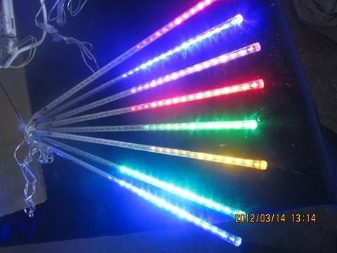 Lampe bleu 50cm Meteor Shower Rain LED Kit de fête de Noël Lumière de décoration de jardin