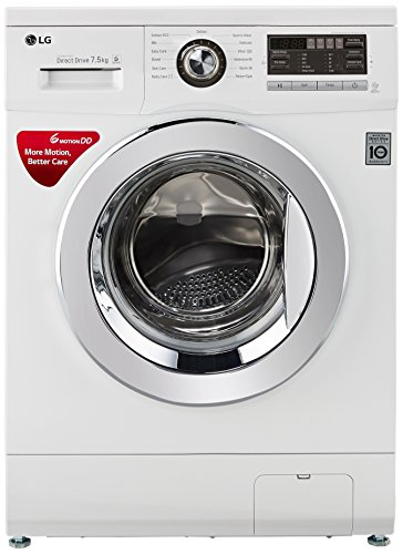 LG 7.5 kg Fully-Automatic Front Loading Washing Machine (FH296EDL23, Blue...