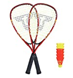 Talbot Torro Speed 5000 Badminton in Slingbag, Nero/Rosso