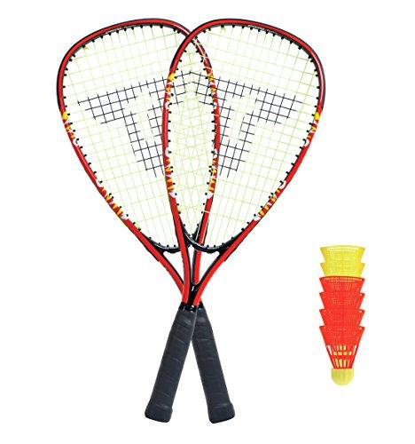 Talbot Torro Speed Badminton Set 5000 im Slingbag, Black/Red, 490105