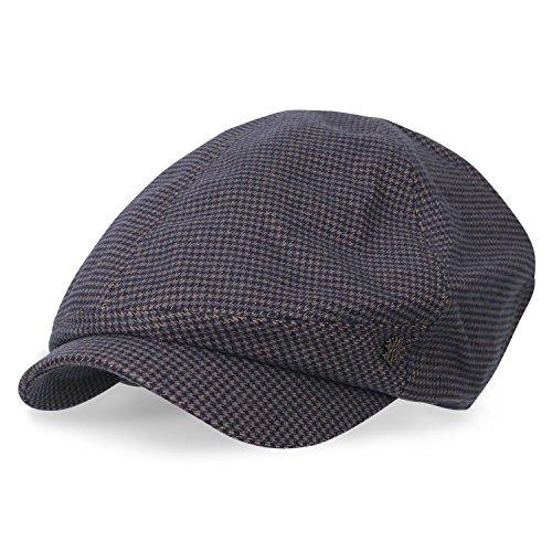 uster Kariert Gatsby Schieber Hut Cabbie (Chauffeurhut) Golfermütze Flach Cap, Brown (Paperboy Hut Für Männer)