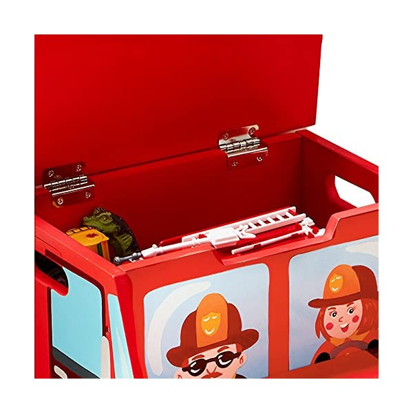 Fantasy Fields - Little Fire Fighters Hand Painted Step Stool with Storage Fantasy Fields By Teamson Lightweight design for easy portability with carry handles either side. dimensions 33.02 x 34.29 x 30.48 cm Top step has a lid that opens up to reveal a handy storage space. perfect for helping your child to reach the sink to brush their teeth. Teach your kids colour and character recognition and enhance their imaginative minds. great for encouraging children's independence 6