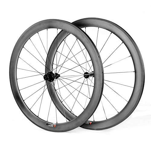 Fahrradräder Ultra Light Matt 50mm Carbon 700C Radsport Rennrad Drahtreife Bike Wheels (Rennrad Carbon Laufräder)