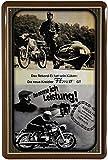 Blechschild 20x30 cm Kreidler Florett GT historisch Reklame Werbung Metall Schild