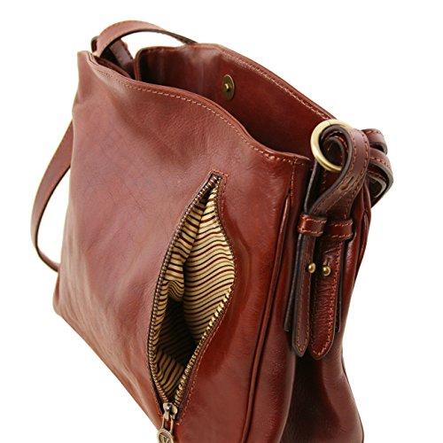 Tuscany Leather Sara - Borsa a tracolla in pelle Rosso Borse donna a tracolla Rosso