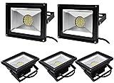 Leetop 5X 30W LED Fluter Strahler Flutlicht Warmweiß Scheinwerfer IP65 Außen SMD Baustrahler Beleuchtung Lamp