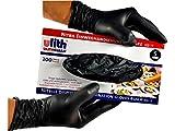 200 Stück schwarze Nitril Einweghandschuhe von Ulith ungepudert verschiedene Größen (L, schwarz)