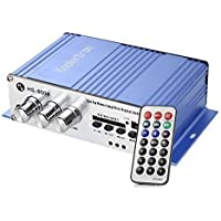 Koolertron Amplificatore stereo Hi-Fi USB MP3 SD, telecomando a casa auto, moto, van, barca, moto ecc