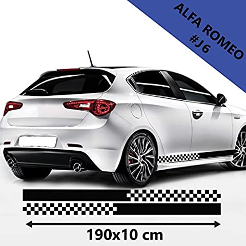 Alfa Romeo Car Side Stripes Graphics Vinyl Decal Size 190 X 10 CM.(74.8