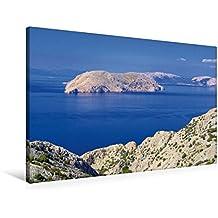 Premium Textil-Leinwand 90 cm x 60 cm quer, Kvarner Golf   Wandbild, Bild auf Keilrahmen, Fertigbild auf echter Leinwand, Leinwanddruck: Kroatien (CALVENDO Orte)