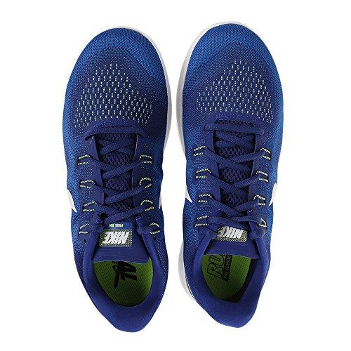Blue De Esecuzione Chaussures Royal salire Free Nike Homme Bianco 2017 Deep 401 Run WwqCffzpU