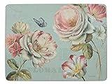 Creative Tops Romantic Garden Platzset, mit Unterseite aus Kork, Blau, 6-Stück