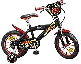 Kinderfahrrad Speed schwarz/rot 12, 14, 16 Zoll - Stützräder (14 Zoll)
