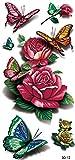 3D fiori e farfalle tatuaggi finti tatuaggi gioielli tatuaggi 3D 12