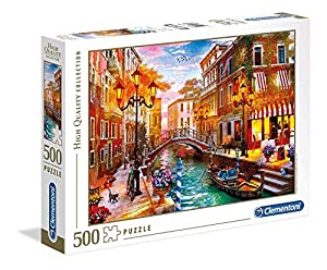 Clementoni Collection Puzzle-Sunse Over venice-500 Unidades, Multicolor, 35063