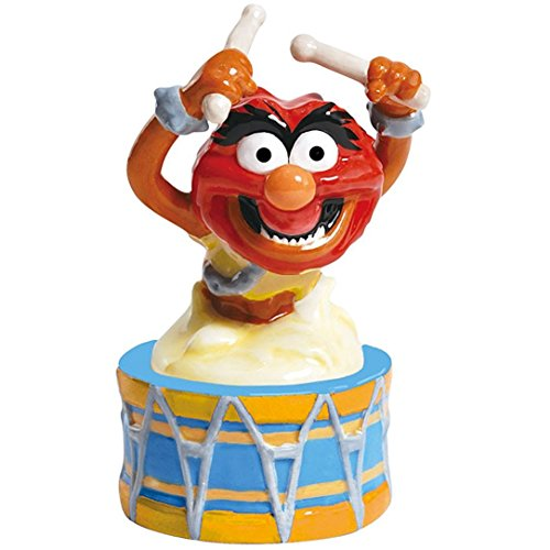 westland-giftware-magnetic-ceramic-salt-and-pepper-shaker-set-45-inch-disney-muppets-animal-on-drum-