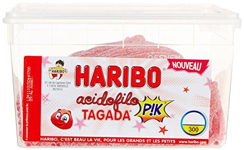 Haribo Bonbon Gélifié Acidofilo Gout Tagada Pik x 300 Pièces 1,95 kg