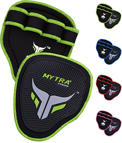 Mytra Fusion Grip Pads Gym Bar Grips Gym Hand Grip for Men Women Workout Crossfit Grip Pads Gym Bar Grips Gym Hand Grip for Men Women Workout Crossfit Grip Pads Weight Lifting Grip Weightlifting pad Neon Green Fusion