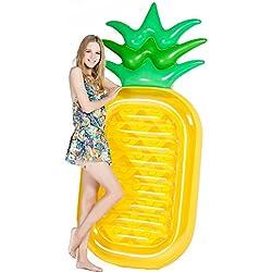 Jasonwell Riesige Ananas Pool-Party Schwimmgerät, aufblasbare Luftmatratze / Pool-Lounger Spielzeug für Erwachsene & Kinder