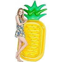 Jasonwell Piña Hinchable colchonetas Piscina Flotador Gigante de Piña Tumbona Flotadora/ Tumbona de Piscina Juguete