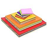 Blulu 4 Größen Squares Tissue Paper Bulk Farbige