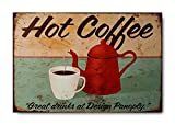"Sketchfab ""Hot Coffee"" Wall Sign (Wooden, 30 cm x 20 cm)"