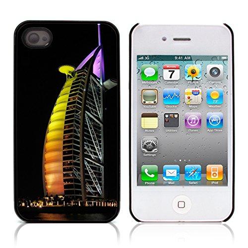 Graphic4You Burj Khalifa Skyscraper Dubai Postkarte Ansichtskarte Design Harte Hülle Case Tasche Schutzhülle für Apple iPhone 4 und 4S Design #6