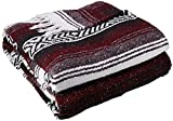 Best Yoga Direct Blankets - YogaDirect Deluxe Mexican Yoga Blanket, Burgundy Review