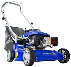 Hyundai 16 inch/40 cm, 99cc Petrol Push Rotary Lawn Mower Lightweight and Soft Grip Handle