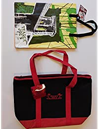 Trader Joe's Extra Large Red & Black Insulated Shopping Bag And NY Reusable Shopping Bag
