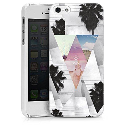 Apple iPhone X Silikon Hülle Case Schutzhülle Dreiecke Hipster Palmen Hard Case weiß