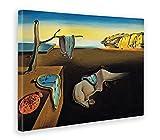 GIALLO BUS - BILD - DRUCK AUF LEINWAND - SALVADOR DALI - LA PERSISTENZA DELLA MEMORIA - 70 x 100 cm