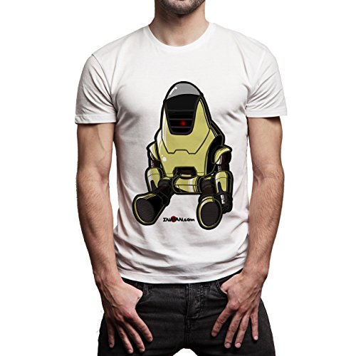 Fall Out 4 Computer Game Art Shooting Protectron Herren T-Shirt Weiß