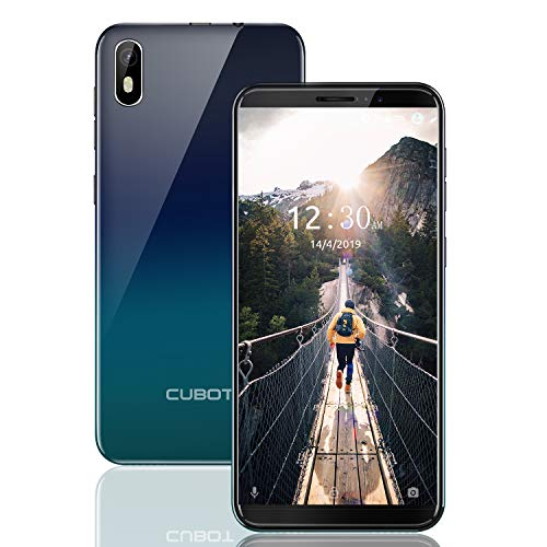 CUBOT J5 Dual SIM Smartphone ohne Vertrag Android 9.0 Oreo,13,97cm (5,5 Zoll) IPS Capacitive Touch Display, 2GRAM+16GROM, 2800mAh Akku Handy Ohne Vertrag, Face ID, GPS (Twilight)