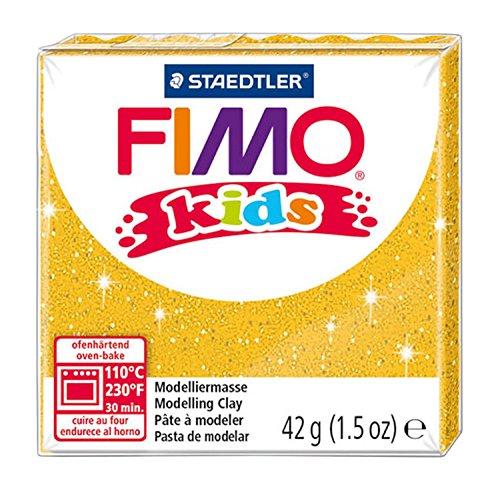 Staedtler 8030-112 - Fimo Kids Normalblock, 42 g, gold glitter