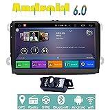 Android 6.0Quad Core Wifi Modell Auto DVD Player GPS 2Din 22,9cm für Volkswagen VW Skoda Polo Passat B6CC Tiguan Golf 5Fabia Unterstützung Spiegel Link/OBD2/Subwoofer/Bluetooth