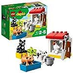 LEGO DUPLO AnimalidellaFattoria, Set Educativo di Mattoncini da Costruzione conGatto Nero,Giocattoli per Bambini dai 2 ai 5 Anni, 10870 LEGO