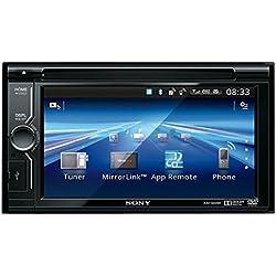 "Sony XAV-602BT - Reproductor de DVD/CD para coche (Compatible con MirrorLink, Bluetooth, sonido Surround virtual de 5.1 canales, pantalla táctil WVGA de alta resolución de 6,1"", entrada USB frontal)"