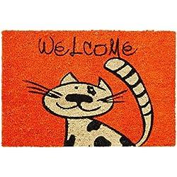Astra Ogos 9118.03 Coco Fun - Felpudo motivo gato, 40 x 60 cm, 1 unidad