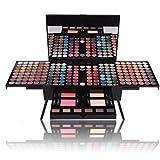 Gracelaza 190 Farben Lidschatten Makeup Paletten mit Blush Rouge, Brauenpuder, Pressed Powder - Satte Farben Kosmetik Palette - Ideal Make Up Etui Box