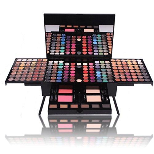 Jascherry 190 colori palette ombretti ombretto con fondotinta compatto e blush fard - cosmetico tavolozza per trucco occhi