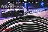 Hellion chitarra elettrica o basso Cavo professionale fai-da-te in rame senza ossigeno da 4 mm per connettori senza saldature, (3 metri). Compatibile con tutti i jack / connettori Solderless, per la realizzazione di cavi patch di diverse lunghezze e privy di saldature, per utilizzo con pedali effetti chitarra e pedaliere. Nessuna saldatura necessaria. Disponibile anche come Starter Kit.