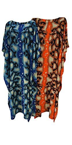 Cool Kaftans Damen Kleid Größe L Blau