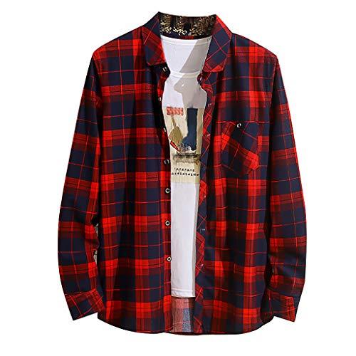 Butterfly Bio-kinder-t-shirt (Yvelands Herren Langarmhemd Neue Casual Fashion Plaid Lose Revers Tops Bluse(rot,XL))