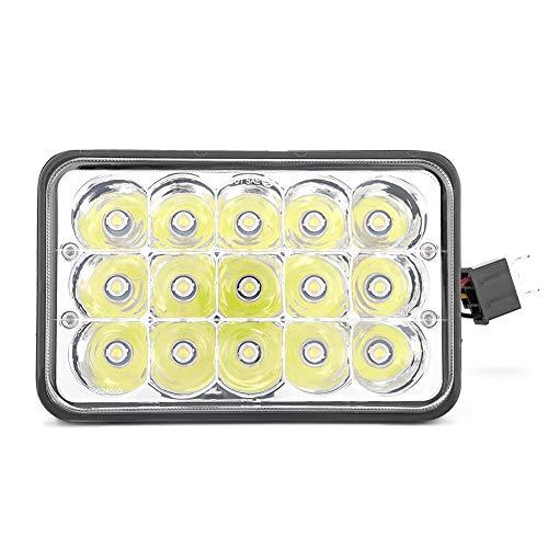 2 pezzi 4X6 LED Faro per auto 45W 6000K fari fendinebbia LED Faro del fascio sigillato Faro di guida del proiettore