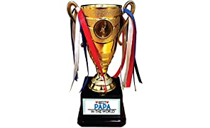 YaYa cafe Best Papa in The World Trophy Golden Champion Award for Father