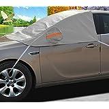 A-Express Coche Protector para parabrisas Cubrir Antihielo y Nieve Funda SUV Parabrisas Protector de